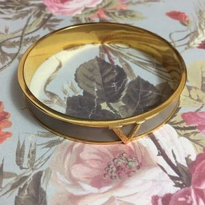 Vince Camuto Jewelry - Vince Camuto | Gold & Gray V Bangle