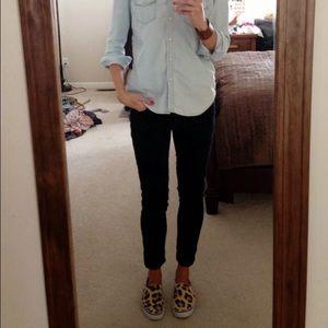 Liverpool Jeans Company Denim - Leopard black on black straight leg jeans