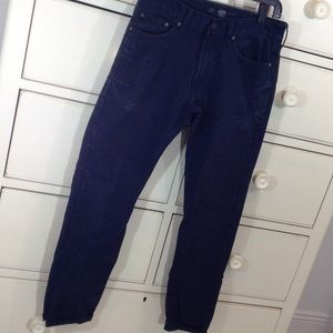 Navy twill jeans