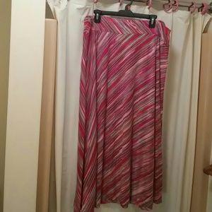 Dresses & Skirts - Long Pink Striped Skirt