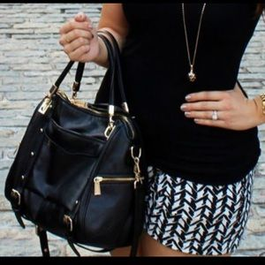 Rebecca Minkoff black Cupid satchel