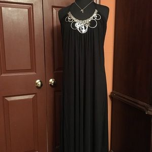 Baby Phat Dresses & Skirts - Halter Swing Maxi Dress With Metal Accents