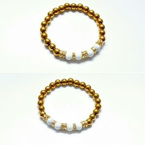 Jewelry - All GOLD AND WHITE bracelet