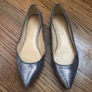 Report Shoes - ✨ SILVER textured metallic flats
