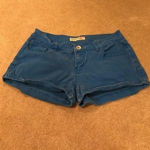 Paris Blues Pants - Paris Blue's blue shorts size 9