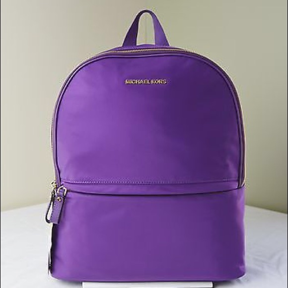 2d74fdb225f5b7 Michael Kors Bags | Kieran Nylon Purple School Backpack | Poshmark