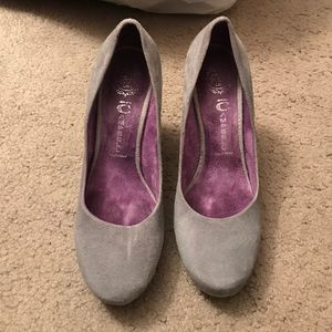 Jeffrey Campbell Shoes - Grey suede Jeffery Campbell heels
