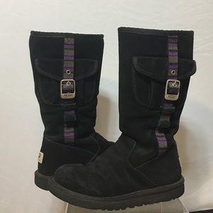 UGG Other - UGG Retro Cargo in Black w/ Purple Side Stripe