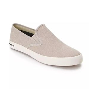 SeaVees Shoes - Beige Slip On Flats Loafers Boat Shoes Sneakers 6
