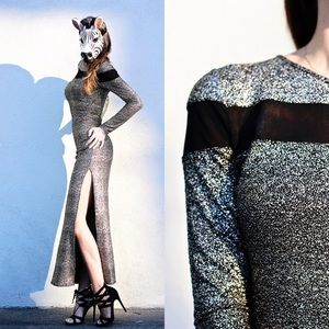 Shoshanna gold/silver dress!