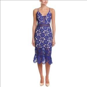 Just Me Lace Midi Dress, Small