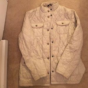 Barbour Jackets & Blazers - Cream quilted Barbour jacket