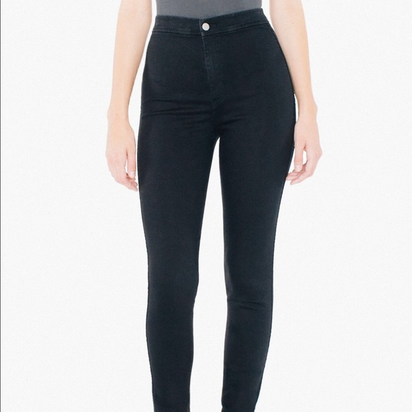 36% off American Apparel Denim - American Apparel Black Easy Jeans ...