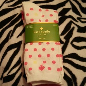 kate spade Accessories - 3 pair of kate spade socks. Nwt. Pink and white