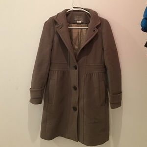 J crew double cloth coat