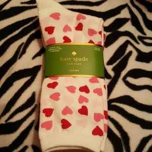 kate spade Accessories - 3 pairs of kate spade socks. Nwt. Hearts pattern