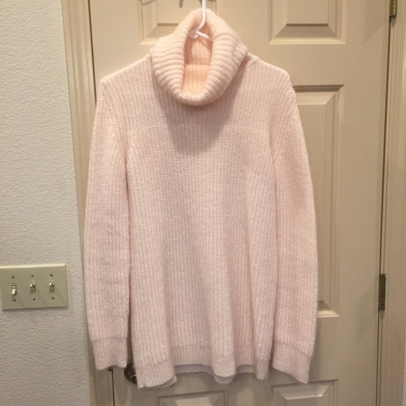 55% off Zara Sweaters - Zara Oversized Light Pink Turtleneck ...