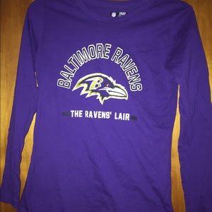 Women Baltimore Ravens long sleeve tshirt small