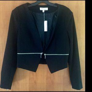 Philosophy Jackets & Blazers - Philosophy cropped black zip detailed jacket