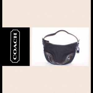 Coach Handbags - Coach Signature Black Shoulder Bag