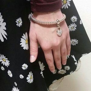 Jewelry - Bronze Heart Lock Bracelet