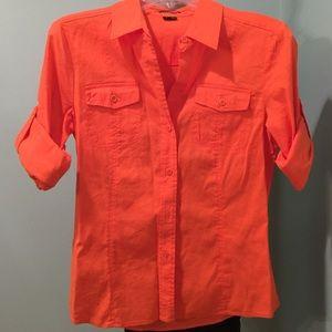 Fold over sleeves shirt