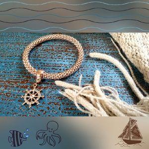 Bronze Ship Wheel Bracelet