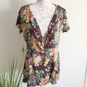 kara line Tops - OSFA Silky Floral Top