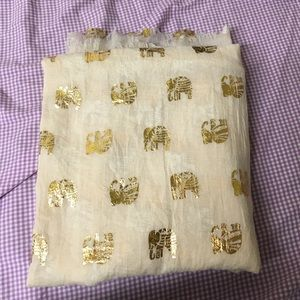 Anthropologie Accessories - Gold elephant scarf