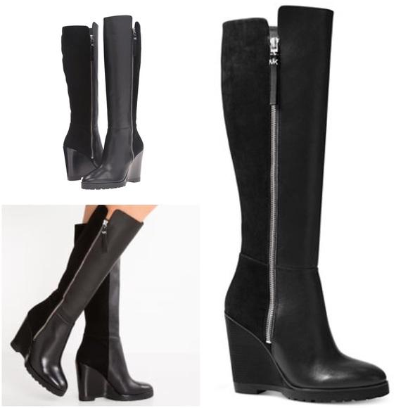 11923cab5ed Michael Kors Clara Tall Wedge Boots