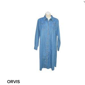 Orvis Dresses & Skirts - Orvis Soft Denim Chambray Shirt Dress, Size 8