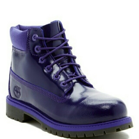 noir patent leather timberland bottes