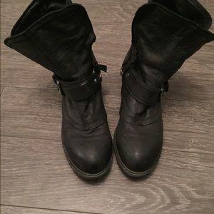 Report Shoes - Black combat boots