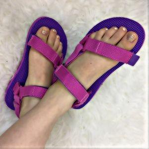 Teva Other - 🚨FIRM🎉TEVA NEW Girls 12 Original Pink Sandals