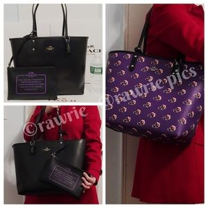 New Coach Reversible large travel tote & pouch