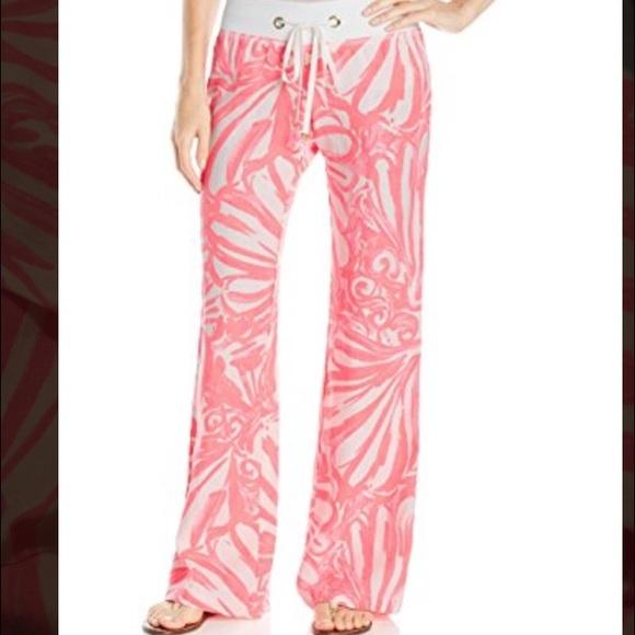 52735ec4ca Lilly Pulitzer Pants   Nwt Linen Beach Pant Pink Sun Ray   Poshmark