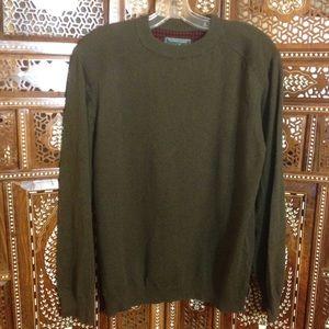 Woolrich Other - Men's loden green cotton-wool crew pullover