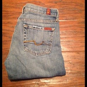 7 For All Mankind Denim - 7 For All Mankind Crop Bootcut size 26.