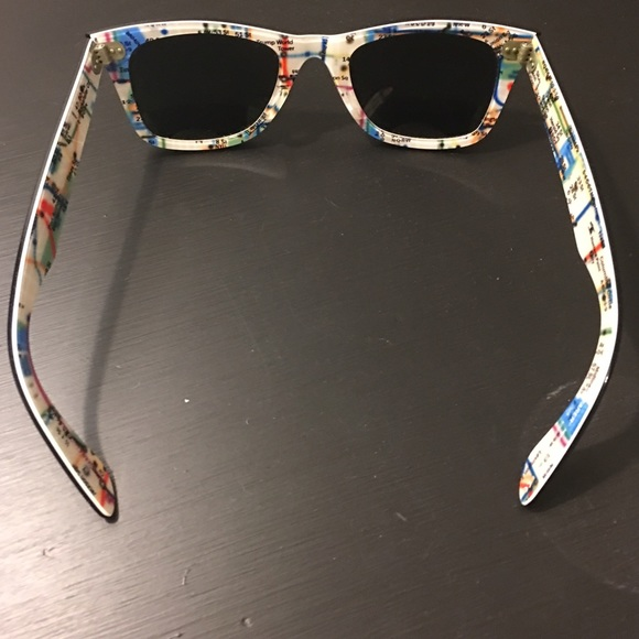 0c8d4b8311 Ray-Ban Wayfarer - RARE PRINT!!! NYC subway map. M 587b01be2fd0b7fda406c49e