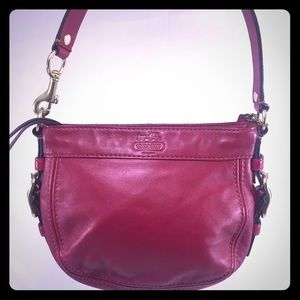 Coach Handbags - COACH Zoe Small Leather Red Purse