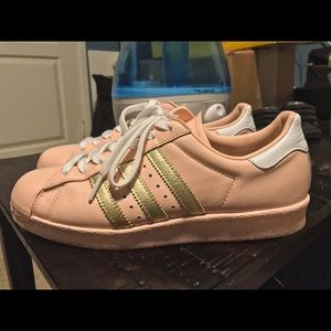 Adidas Shoes - Adidas Custom Superstars in Baby Pink
