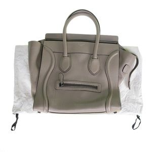 Celine Handbags - AUTHENTIC Celine Mini Luggage Tote Handbag in Dune