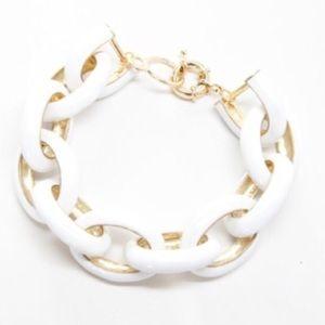 White Link Enamel Bracelet