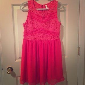Target Xhilaration Neon Dress - Lace - XL
