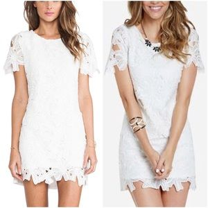 JOA LOS ANGELES WHITE LACE DRESS SMALL S