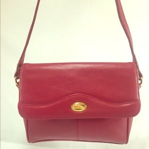 Etienne Aigner Handbags - ETIENNE AIGNER Red Leather Crossbody