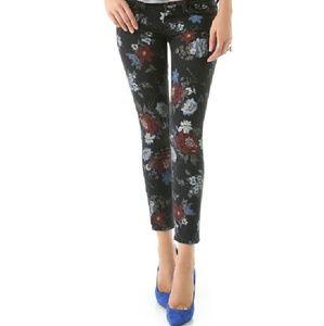 Current/Elliott Floral Stiletto Jeans