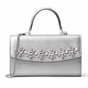 MICHAEL Michael Kors Handbags - HP🎀Michael Kors Ava Jeweled Large Phone Crossbody