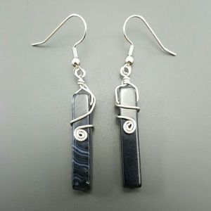 DGwiring Jewelry - BLACK AGATE  protecting, calms, stress, peace