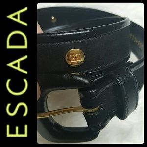 Escada Accessories - Escada Designer Suede Leather Belt